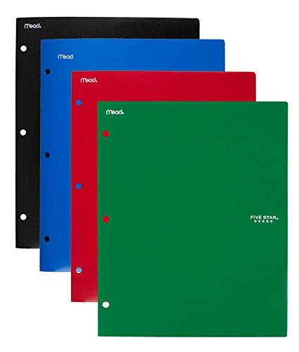 Five Star Binder Pocket Folder, Stay-Put 2-Pocket Folder, 9-1/2