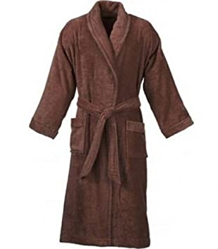 25f38dab66 Mens and Ladies Towelling Robe 100 % Egyptian Cotton Terry Towel Hooded  Shawl Collar Bathrobe Dressing Gown Bath Robe Perfect for Gym Shower Spa  Hotel Robe ...