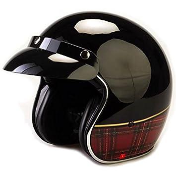 Viper Rs-04 abierto cara casco de moto, diseño de tartán, color negro