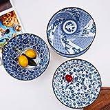 YALONG 20 Ounce Deep Soup Asian Bowls Set of 4, 6