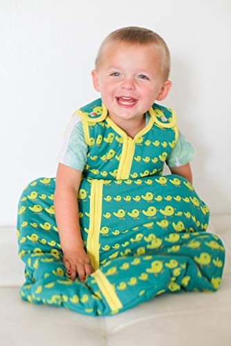 Baby deedee Sleep Nest Tee Baby Sleeping Bag, Duckies, Medium (6-18 Months) ()