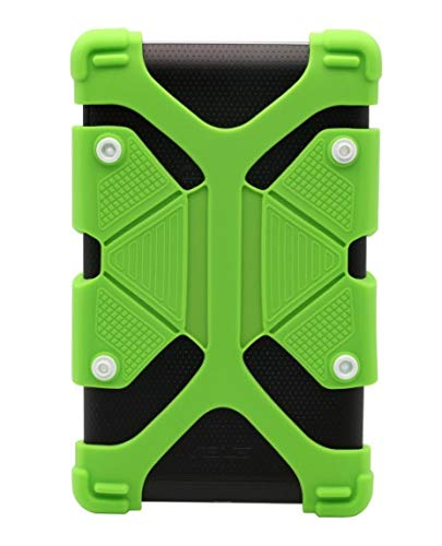 Universal 7 to 8 inch Kids Shockproof Silicone Cover Case Stand for iPad Air,iPad Mini,Kindle,Q8,Samsung Galaxy Tab,Verizon Asus RCA Google Dragon Touch & More (7.0