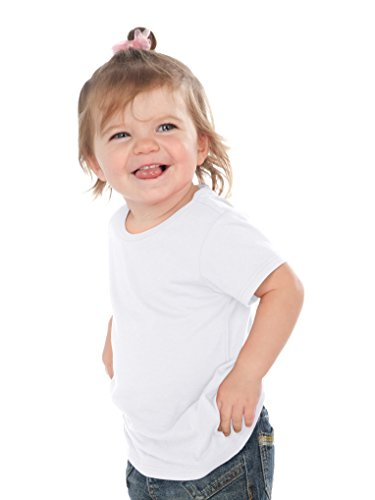 Kavio! Unisex Infants Crew Neck Short Sleeve Tee (Same IJP0493) White (Baby Short Sleeve T-shirt)