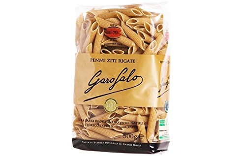 Garofalo No.5-70 Penne Ziti Rigati Whole Wheat Pasta - 16 oz (4 Pack) -