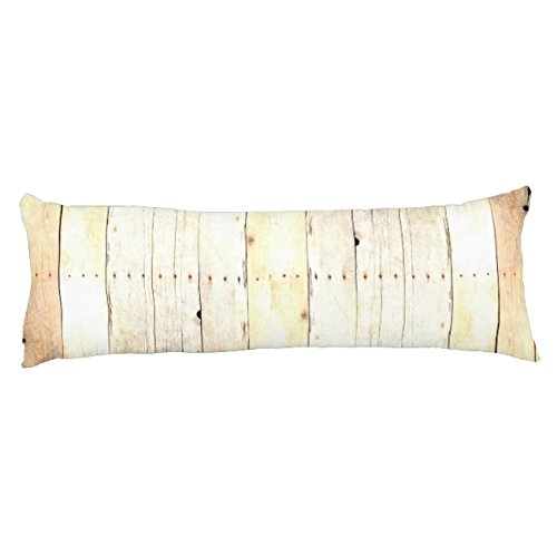 UOOPOO Rustic Wood Old Barn Board Barnwood Paneling Polyester Body Pillow Cover Square 20 x 54 Inches for Bed Print on Twin Sides