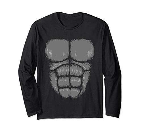 Gorilla Chest Easy Halloween Costume Long Sleeve T Shirt]()