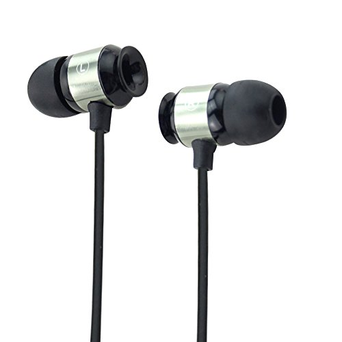 SiKER In-ear Noise-isolating Headphones|Earbuds|Earph-ones with Microphone-Made for iPhone | iPod | iPad | Android Smartphone | Tablets | MP3 Players--12months Warranty (BLACK)