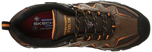 Skechers Mens Delleker Work Boot Brown/Orange