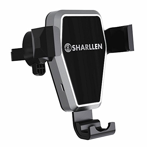Wireless Car Charger,SHARLLEN Fast Charging Car Mount Air Vent 10W Compatible Samsung Galaxy S9/S9 Plus/S8/S8 P/Note 9/8 Wireless Quick Charge Phone Holder 7.5W Compatible iPhone Xs/Max/R/X/8 Plus/8