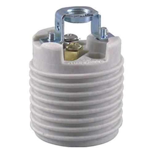 (Keyless Porcelain Threaded Socket with Hickey,TWDRTDD Medium base E26 threaded Keyless porcelain socket,brackets (Ips)
