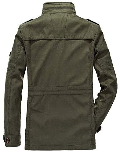 Da Invernali Huixin Alto Capispalla Coat Khaki Uomo Cappotti Giacche Donna Cotone Bomber In 55qzpBx