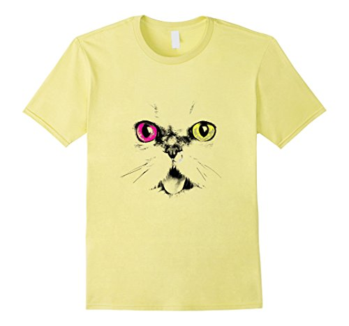 Simple Costume Cat For Work (Mens Halloween Animal Costume T Shirt Cat Face Tee Women Girls Small)
