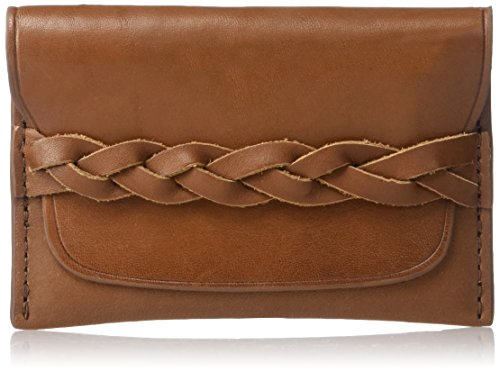 Fossil Embossed Wallet - Fossil Men's Brett Leather Card Case Wallet, Saddle, One Size