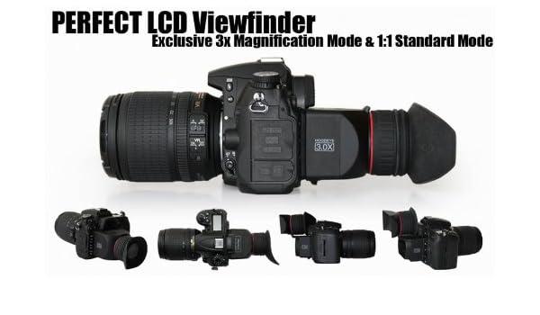 GGS Viewfinder- Visor con lupa para cámara réflex digital con ...
