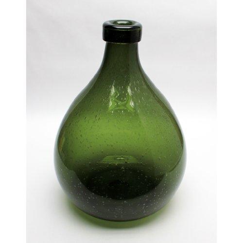 "Design Toscano Shima Olive Green Hand-Blown Glass Vase, 15\"""