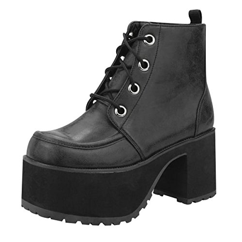 [T.U.K. Original Footwear Women's Nosebleed Ankle Boot,Black PU,US 8 M] (Book Week Costumes For Sale)