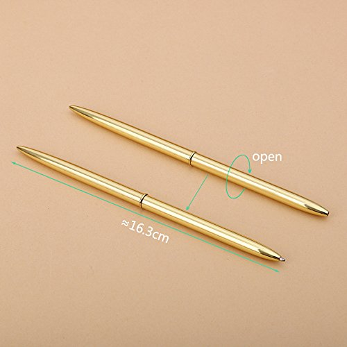 Korean Steel Rod Rotating Metal Ballpoint Pens Stationery Superfine Ballpen Novelty Gift for Student Writing Pen by Office & School Supplies YingYing (Image #4)