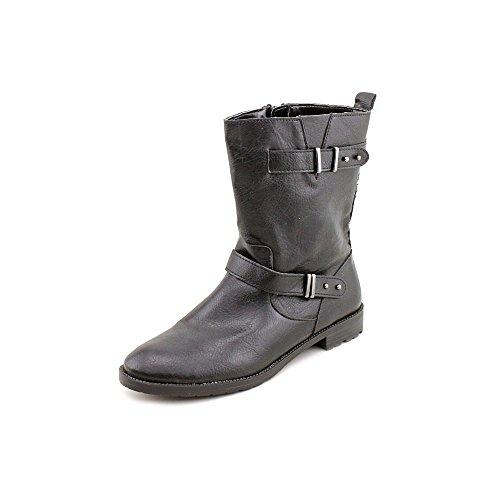 Boots Sascha 5 Size Calf Fashion Leather Black Womens Mid Faux Alfani 7 Pxadqpwgg