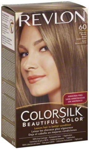 Tinte Revlon ColorSilk 60 Rubio Claro Ceniza Sin Amoniaco ...