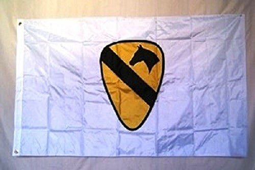 3x5 USA US Army 1st First Cavalry Calvary White Military Flag 3'x5' Banner with ()