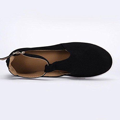 Vintage Geschlossen Für Schnalle Schuhe Outdoor Knöchel Schwarz Damen Sandalen Flache Ansenesna Trekking qw07UU