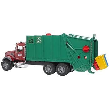 Bruder Toys Mack Granite Garbage Truck (Ruby Red Green)