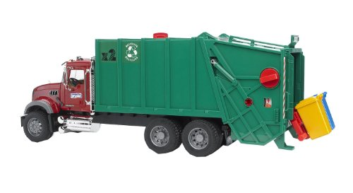 Bruder Toys Mack Granite Garbage Truck (Ruby Red Green)
