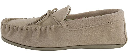 Lining LAMBLAND Moccasin Camel Ladies Cotton with Sheepskin Slippers Suede tra0r