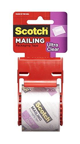 Scotch Mailing Tape,1.88 in x 1000 in, Clear, (141L)