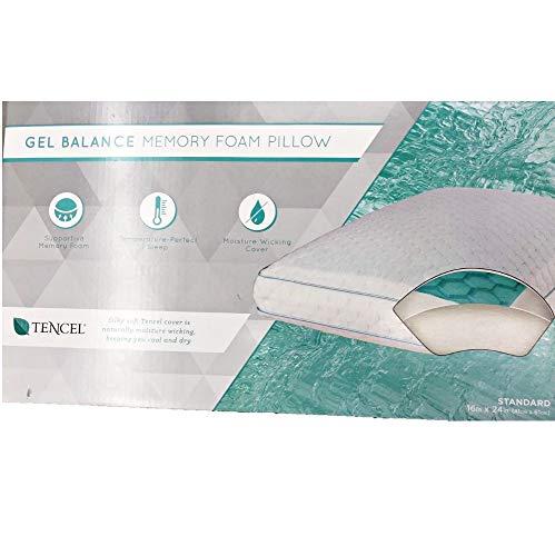 Lux-Living Gel Standard Memory Foam Pillow (Green, Standard) (Lux Living Memory Foam Gel Contour Pillow)