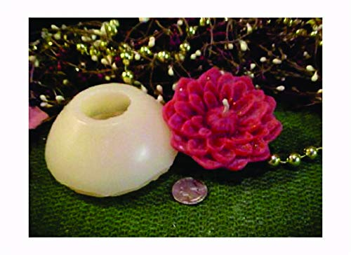 Dahlia Flower Floater 1 Cavity Silicone Mold 1920 Food-Soap-Candle-Resin-Flexible ()
