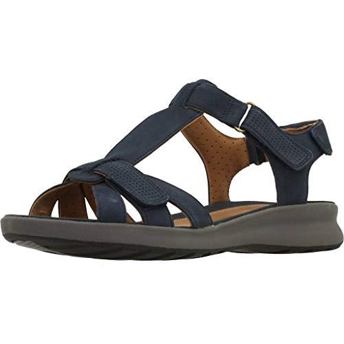 Zapatos Un Nubuck Color Para Mujer Clarks Clarks Modelo navy Mujer Azul Navy Azul Marca Vibe Cordones De Adorn PIHqrP