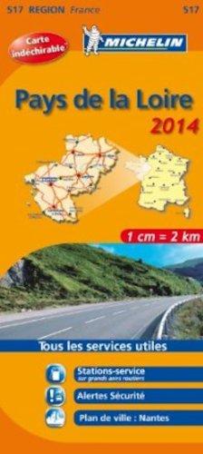 Michelin Map France Regional : Map 517 Pays de la Loire ; tear-resistant ; 1/200,000 (French Edition)