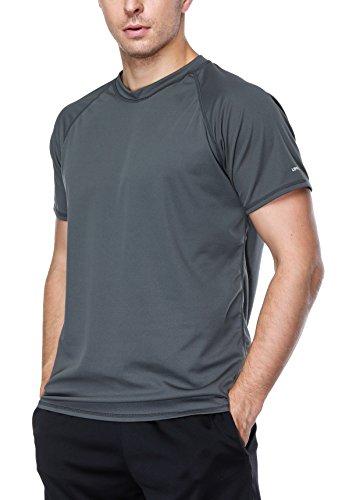 belamo Sun Protection Shirt for Men UPF 50+ Rashguard Swim Shirt Charcoal XL by belamo