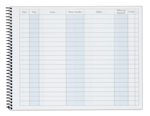 Adams Activity Log Book, Spiral Bound, 8.5 x 11 Inches, 100 Pages, White (S1185ABF) by Adams (Image #1)