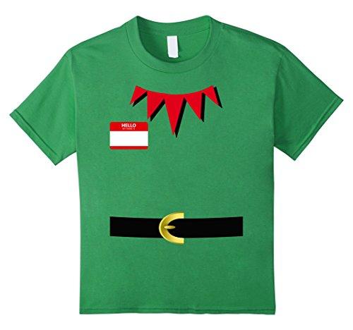 Kids Elf Halloween Group Costume Idea T-Shirt Dwarf Name Plaque 12 (Frat Boy Halloween Costume Ideas)