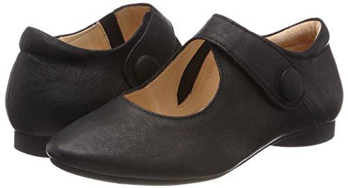 Ballet 00 Ankle Guad black Women's Black Flats 282280 Strap Think wqXPWz11