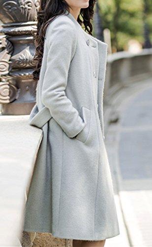Damen Kaschmir Mantel Lange Graben Mantel Schlank Wolle Mantel