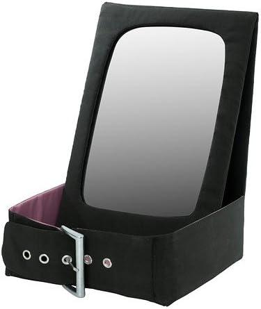 IKEA BETRAKTA - espejo de pared con bolsillo de almacenamiento, negro, rosa - 28 x 21 cm: Amazon.es: Hogar