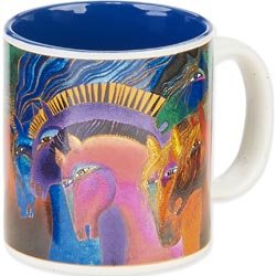 Laurel Burch LBM-302 Laurel Burch Artistic Mug Collection - Wild Horses Of Fire