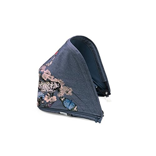 Bugaboo Bee5 Sun Canopy, Botanic - Extendable Sun Shade for Full Weather Protection, Machine Washable