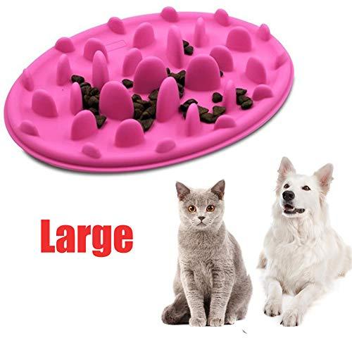 fun deal Pet Interactive Slow Feeding Bowl,Anti-gulping Pet Bowl Insert Feeder, Bloat Gobble Stopper Dog Puppy Feeding Diet - Insert Bowl