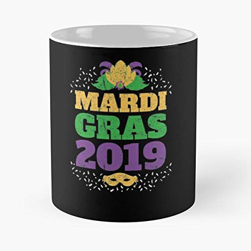 Mardi Gras New Orleans Carnival Black - Best Gift Ceramic Coffee Mugs 11 Oz]()