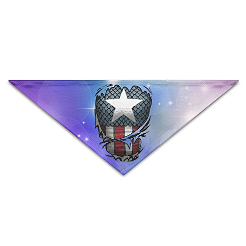 Pet Bandanas - Personalized Captains Suit Pet Bandana Scarf - Triangle Scarf Collar Neckerchief For Dog ()