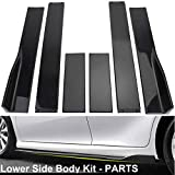 Side Skirts for Cars Universal ABS Black Body Kit