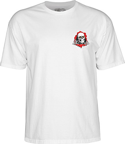 (Powell-Peralta Support Your Local Skate Shop - White Small T-Shirt )