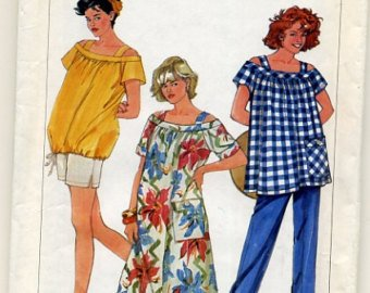 New Vintage Simplicity sz 8-12 Maternity dress, top, pants and shorts pattern, 6917