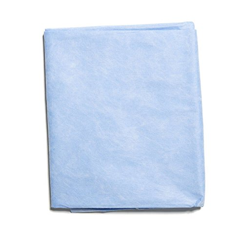 Halyard Health 67773 Half Sheets, Disposable, 40 Inch x 72 Inch, Blue (Case of 80) by Halyard Health