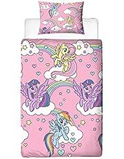 My Little Pony Påslakan för enkelsäng, officiell licensierad produkt, design Besties, rosa, vändbar, dubbelsidig, officiell produkt för varor, inkl. örngott
