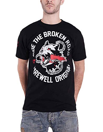 (Day's Gone T Shirt Ride The Broken Road Logo Official Ps4 Gamer Mens Black Size S)